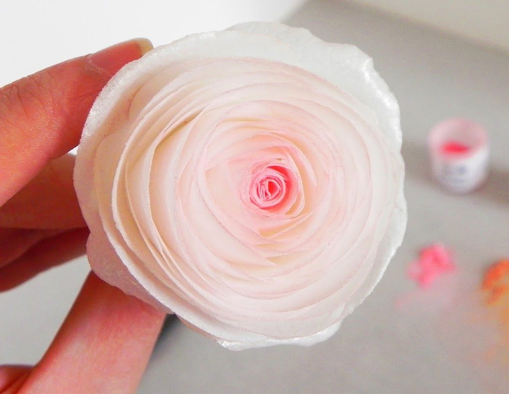 Wafer Paper Bouquet Roses Karas Couture Cakes