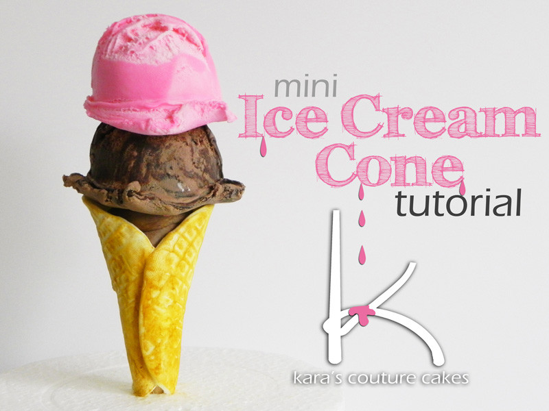 Homemade Mini Chocolate Ice Cream Cones Recipe — Dishmaps