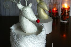Reindeer Christmas Cake By Kara's Couture Cakes
