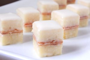 Classic Petit Fors Recipe. SIngle bit tiny cakes are simple to make an wow-dessert to serve! Make this recipe for your next holiday party or brunch!