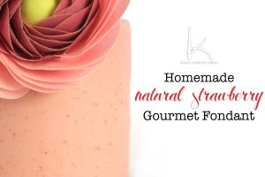 Real Gourmet Strawberry Fondant. This homemade cake icing is made with real, organic strawberries and has a flavor that POPS! Try this on your next vanilla or lemon cake!