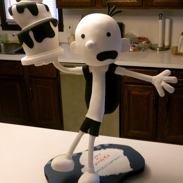 """A Gravity Defying Greg Heffley cake, from The Diaries of a Wimpy Kid. Come behind the scenes and see how I constructed this """"That can't be cake"""" cake!"""
