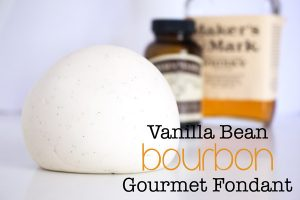 Gourmet Vanilla Bean Bourbon Fondant. So sweet, subtle, and stunning. This easy and quick recipe is a game changer for fondant cakes!
