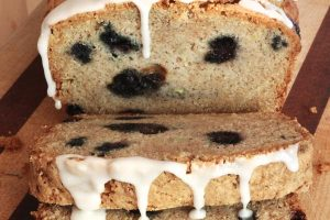 Blueberry Lemon Zucchini Bread. If you have extra zucchini from the garden, this recipe is for you! A handful of blueberries and some lemon glaze and you have the perfect afternoon treat!