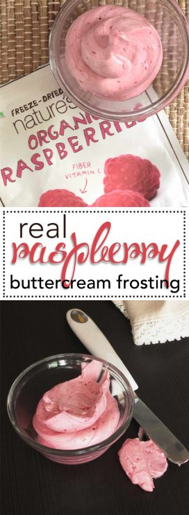 Real, All Natural Raspberry Buttercream Frosting. The best way to add REAL berries to your buttercream and get all natural flavor and color. Check out this super simple recipe.