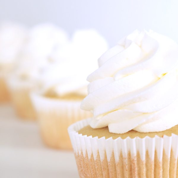 The perfect wedding cupcake is here! Beautifully white, rich and thick, and like having the real cake in a tiny cup. Check out this easy recipe and add it to your collection!
