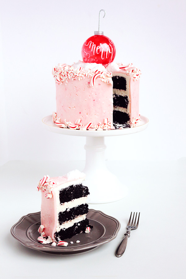 This Peppermint Patty cake with Gourmet Homemade Candy Cane Fondant is to die for! Get the recipes now and wow your family and friends this Christmas!