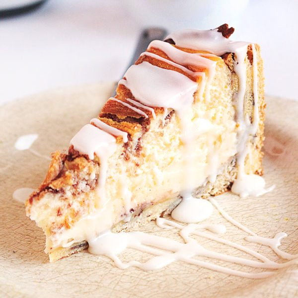 Cheesecake IS for breakfast! Or at least for a casual Sunday brunch. Make this delicious marriage of perfect cheesecake and Pillsbury Cinnamon Rolls this holiday season!
