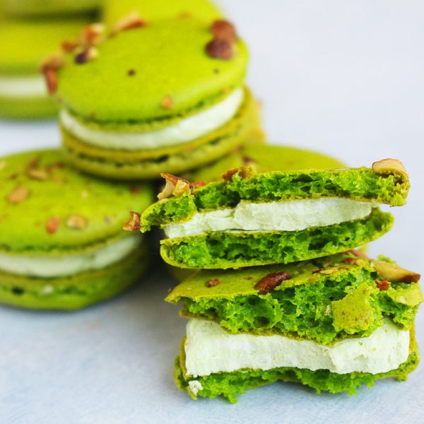 These are the BEST Pistachio Macarons you'll ever put in your mouth. The recipe is surprisingly easy and so customizable to any flavor you wish! Stop by and get it today!