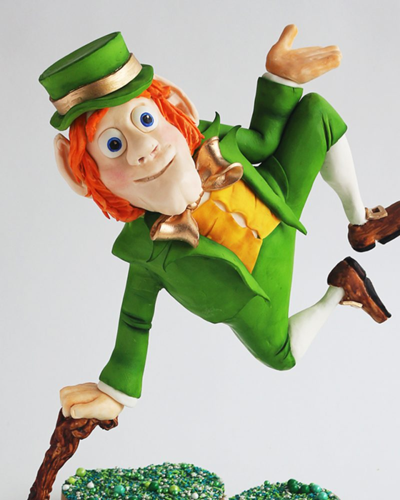 A Gravity Defying Leprechaun Sugar Showpiece