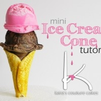Tutorial: Mini Modeling Chocolate Ice Cream Cone… Two Scoops, Please!