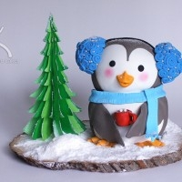 Snowy the Penguin Cake Tutorial